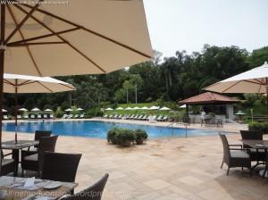 A piscina do hotel